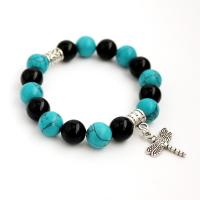 Gemstone Agate and Turquoise Bracelet