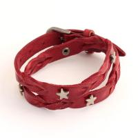 Leather Unisex Bracelet with metall stars