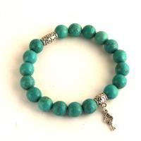 Turquoise Bracelet with key pendant