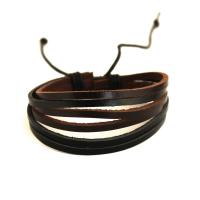 Leather bracelet with six leather cords