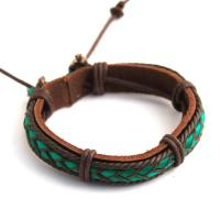 Surfer-style bracelet with hemp cord