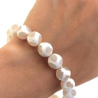 Crab fire agate bracelet in white