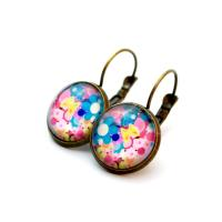 Cabochon earrings mixed colors