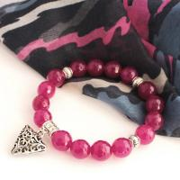 Gemstone Quartz Bracelet in ruby
