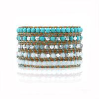 Wrap bracelet Turquoise and crystals