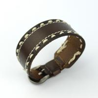 Leather bracelet with sewing