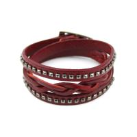 Leather bracelet braided for women