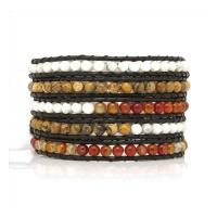 Wrap bracelet with mixed stones