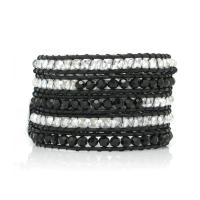 Wrap bracelet in black and white