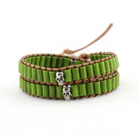 Skull wrap bracelet in green