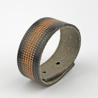Grain Leather Bracelet Cuff black