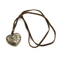 Leather necklace Laced Heart