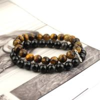 Double stone bracelet agate and tiger eye