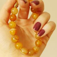 Gemstone Dragon Veins Agate Bracelet, yellow