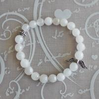 Gemstone Bracelet from white jade beads