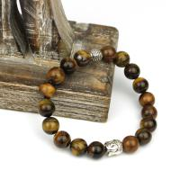 Tiger eye bracelet with Buddha bead