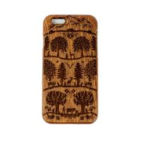 Wooden Case iPhone 6 Sapele Swiss Folk Design