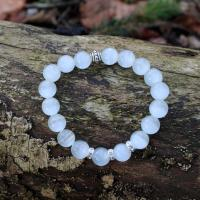 Cat's eye gemstone bracelet, light grey