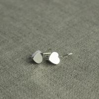 Heart earrings silver-plated