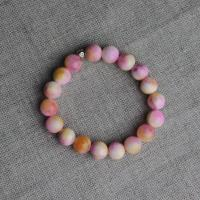 Agate bracelet pink and orange