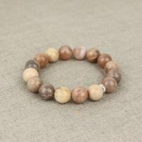 Agate bracelet in beige large beads