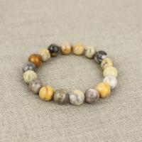Jasper bracelet yellow-grey