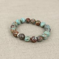 Agate bracelet turquoise-brown