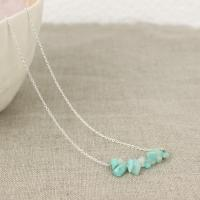 Amazonite necklace with chain