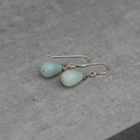 Amazonite drops earrings
