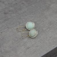 Amazonite earrings with wire