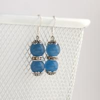 Handmade earrings from brazilian aquamarine