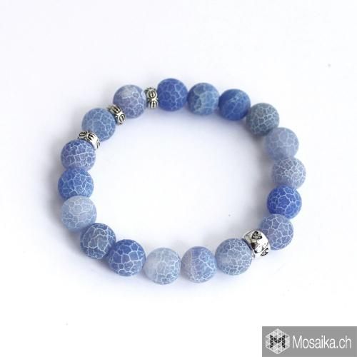 Mattes Achat Armband in hellblau