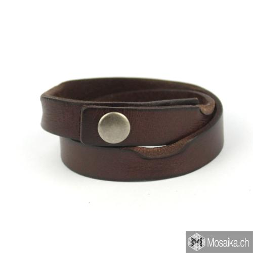 Wickel- Lederarmband in dunkelbraun